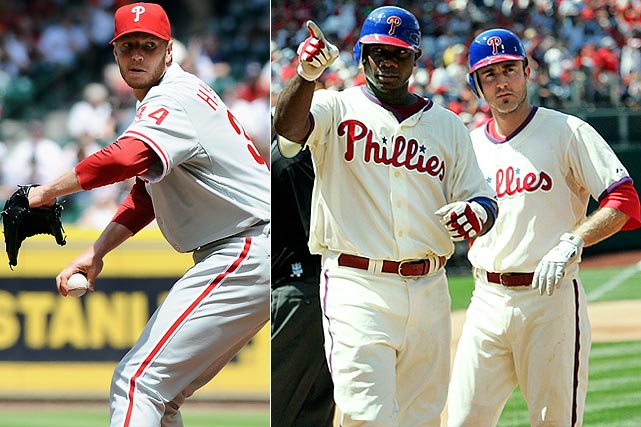 Highest salaries:  Ryan Howard: $19 million Roy Halladay: $15.75 million ($6 million owed by Toronto) Chase Utley: $15 million