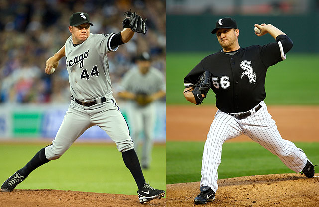 Highest salaries:  Jake Peavy: $15 million Mark Buehrle: $14 million