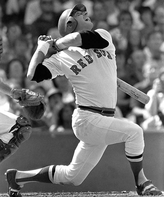 """Carl Yastrzemski amassed 13 hits in 21 at bats over the last six games of the Red Sox's """"Impossible Dream"""" 1967 season. Yaz, who would go on to win AL MVP and the Triple Crown, went 7 for 8 with six RBIs in Boston's final two games against the Twins. The Red Sox finished the season one game ahead of the Twins and Tigers."""