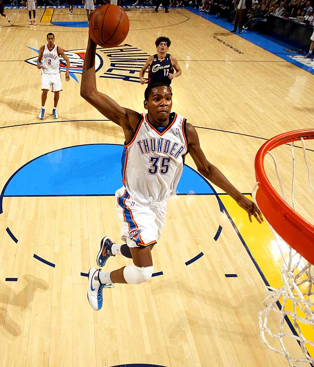 The hardest leap in the NBA is to rise from very good to great, and this year -- his third in the league -- Kevin Durant turned himself into an MVP candidate by driving his young teammates to win more games than anyone could have imagined.
