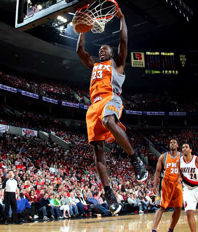 Jason Richardson scored a career-high 42 points, including eight three-pointers, in Phoenix's Game 3 win over Portland. That was just part of a fine series for Richardson, who shot 52.7 percent (49-of-93) from the field and 51.2 percent (22-of-43) from beyond the arc.  Richardson and the Suns take on the Spurs in Round 2.