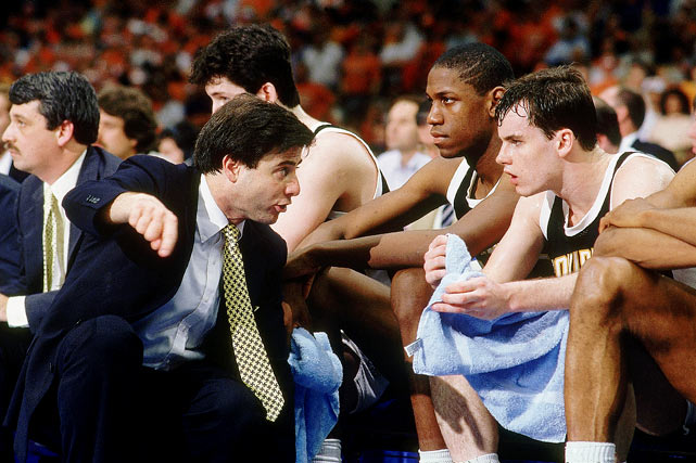 A then-unheralded coach named Rick Pitino led the Friars to the Final Four as a 6-seed in 1987. Leading scorer Billy Donovan had 20 points, including 16 from the free throw line, in Providence's 88-73 regional final win over Big East rival and top seed Georgetown.