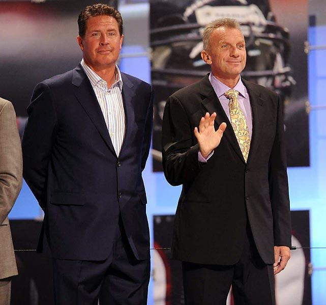 NFL Hall of Fame quarterbacks Dan Marino and Joe Montana were onhand for the festivities.