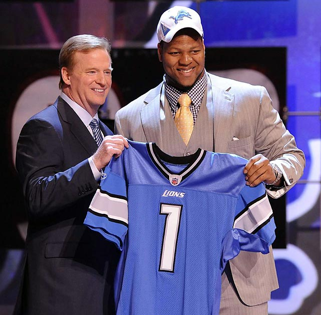 The Detroit Lions took Ndamukong Suh with the second pick.