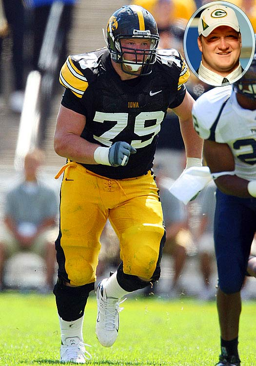 Round  	Pick  	Player  	Position  	School  1 	23 (23) 	Bryan Bulaga (pictured) 	T 	Iowa 2 	24 (56) 	Michael Neal 	DT 	Purdue 3 	8 (71) 	Morgan Burnett 	S 	Georgia Tech 5 	23 (154) 	Andrew Quarless 	TE 	Penn State 5 	38 (169)  	Marshall Newhouse 	G 	TCU 6 	24 (193) 	James Starks 	RB 	Buffalo 7 	23 (230) 	C.J. Wilson 	DE 	East Carolina