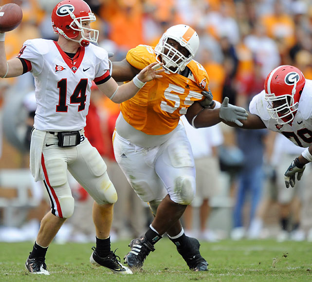 Projected as a mid-round pick heading into the 2009 season, Williams broke out to the tune of 62 tackles -- tops among SEC linemen. Now Williams is being pegged as a mid-first rounder. His mean streak and his 327-pound help him collapse the pocket and bring pressure in the backfield. And if he gets an opportunity for a tackle, he will punish ball carriers.