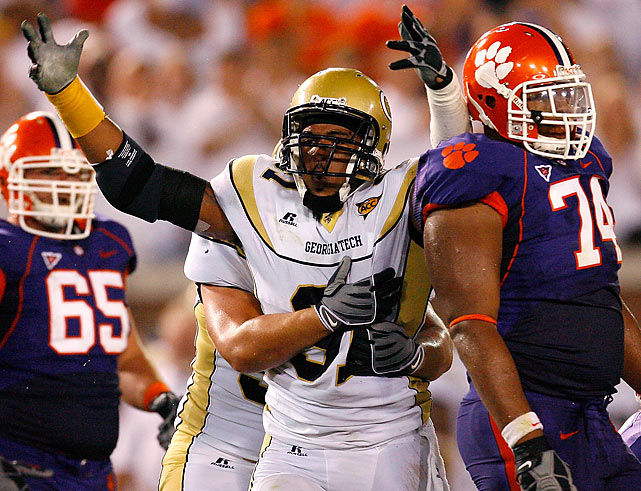 The ACC's Defensive Player of the Year in 2009 racked up 52 tackles and 12 sacks in his junior season at Georgia Tech. While not a freakish athlete like other highly touted linemen in this year's draft class, Morgan's production in college projects well to the pro level. Morgan is an above average tackler and pursues the ball in the backfield, while playing with a high football IQ.