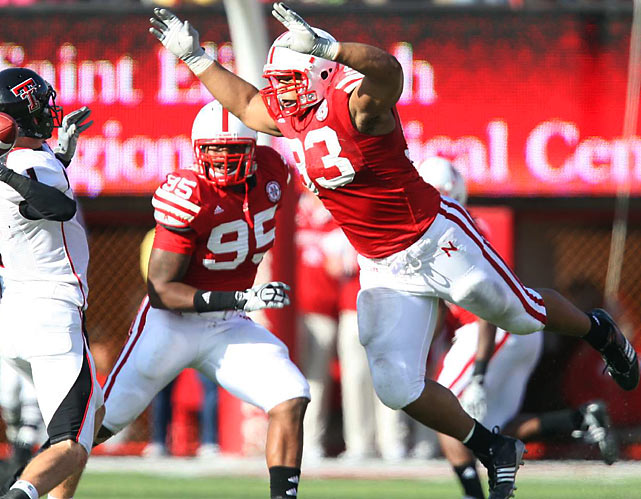 After nearly coming away with the Heisman trophy last season with Nebraska, Suh enters the draft a powerful combination of size, strength and athleticism (12 sacks in '09 as a defensive tackle). Suh is versatile enough to excel in either a 4-3 or 3-4 defense, and will often draw double teams from opposing offensive lines. Widely touted as the best defensive player in the draft, Suh should have an immediate impact regardless of what team selects him.