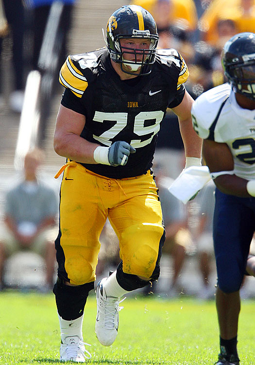 Coming out of Iowa, Bulaga has a good understanding of the game and of how to play left tackle, from mechanics to blocking schemes. His experience in the Big Ten means he's battle-tested, and he certainly has the size to play NFL O-line (314 lbs.) on a weekly basis.