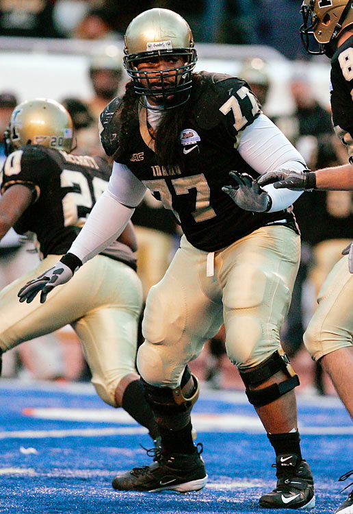 At 6-foot-5, 331 pounds, Iupati is, literally, a big prospect. Considered one of the more powerful guards in the draft class, Iupati dominates defenders with his strength and size. But the Idaho product lacks speed and needs to improve his downfield blocking.