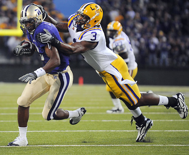 Jones was drafted by the Houston Astros out of high school, but elected to go to LSU and play both baseball and football. Now, a year removed from being an integral part of the Tigers' College World Series title run, Jones is hoping to get drafted for the second time, and this time as a big-hitting safety in the NFL. Jones is still raw, but his intensity and aptitude to adjust to whatever scheme he ends up in makes him an attractive mid-round selection.