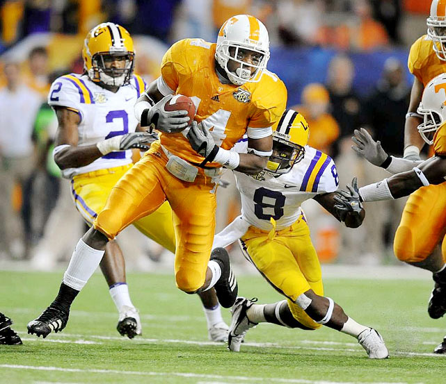 Having drawn comparisons to Ed Reed, Troy Polamalu and Brian Dawkins, it comes as no surprise that Berry is a projected top-10 pick. Tennessee's stud safety had 12 interceptions in his first two years as a Volunteer, and was a unanimous All-American selection in 2009 after adding two more. Berry is by far the best defensive back in this year's class and he backed up the hype surrounding his physical skills in the months leading up to the draft.