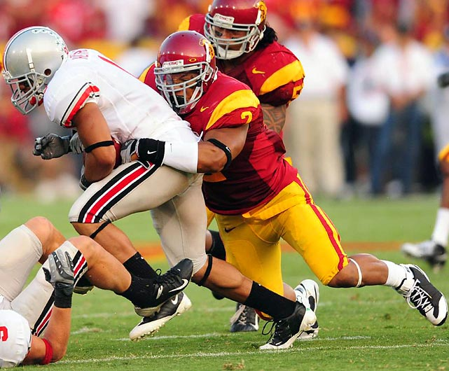 Simply put, Taylor Mays is a freak. He is big, lightning fast, and a devastating big hitter. At USC, Mays didn't put up gaudy numbers, but he essentially played centerfield for the Trojans, limiting his opportunity to make plays on the ball. Despite concerns about his open-field tackling and ability to cover in the NFL, Mays' rare athleticism assures him a spot in the first round.