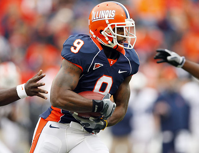 Illinois' Benn has prototypical NFL receiver size, strength, speed and leaping ability, while his experience in the return game makes him dangerous with the rock in his hands anywhere on the field. Still, his lack of precision route-running gives scouts pause.