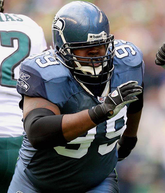 The former Seattle Seahawk defensive tackle was suspended one game for assaulting his ex-girlfriend in the spring of 2008.