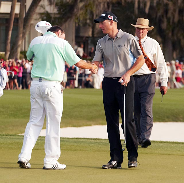 "<b><i>""It's just awkward to see it happen at such a key moment in the golf tournament.  Awkward for him to lose that way, and a little awkward for me to win.""</b></i> <br><br>Jim Furyk on Brian Davis calling a penalty on himself and forfeiting the victory at Verizon Heritage."