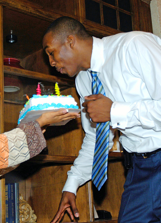 When the second-year Magic star turned 20, he was given a nice little surprise during a team sponsors event.