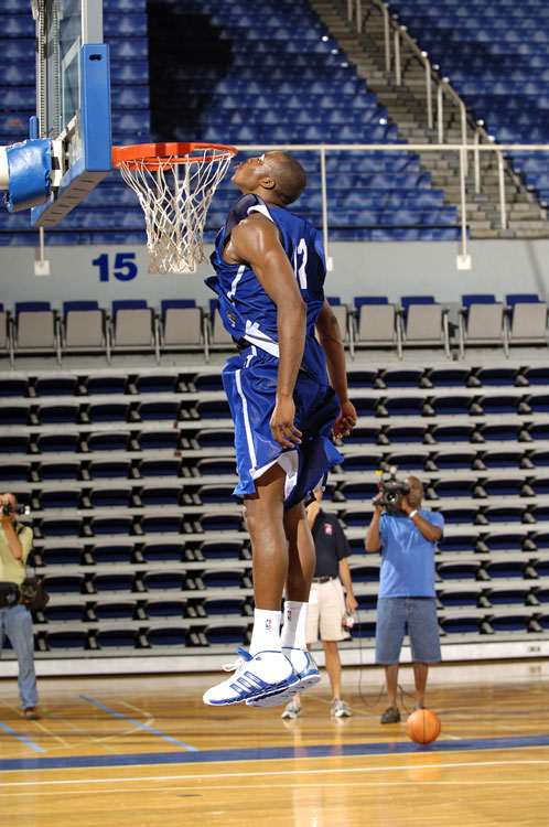 To test his leaping ability, Howard planted one on the rim during training camp in 2005.