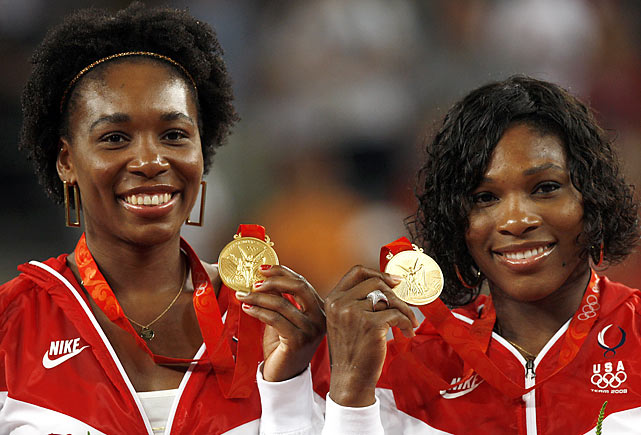Though the sisters may have missed out on individual gold medals, they scored their second consecutive gold medal in the women's doubles at the 2008 Beijing Olympics, beating out the Spanish pair of Anabel Medina Garrigues and Virginia Ruano Pascual 6-2, 6-0.