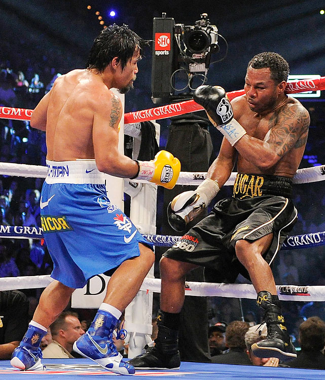 Mosley was a 9-to-1 underdog against Pacquiao, the best pound-for-pound fighter in the world. Pacquiao knocked Mosley down in Round 3, only the third time in Mosley's career that he's hit the canvas. Mosley scored a mistaken knockdown in Round 10 but was largely dominated for the entire fight and lost a unanimous decision.