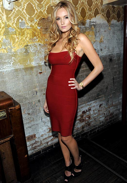 Model Jamie Lee Darley, girlfriend of American midfielder Sacha Kljestan (Chivas USA), attends a Victoria's Secret Fashion Show viewing party.