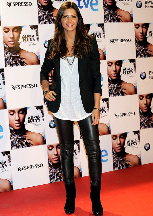 Actress Sara Carbonero, girlfriend of Spanish goalkeeper Iker Casillas (midfielder), was also in attendance to see Alicia Keys.