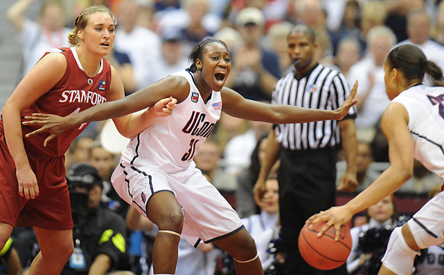 Naismith player of the year Tina Charles wasn't a huge factor offensively, finishing with nine points.