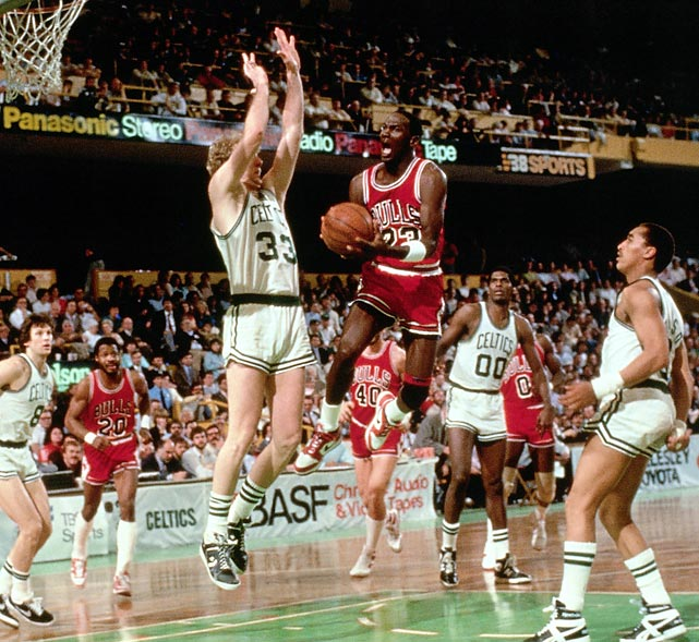 Michael Jordan set an NBA playoff record that still stands today, scoring 63 points against Boston. But the Celtics actually won the game 135-131 in double-overtime, and went on to sweep the Bulls.