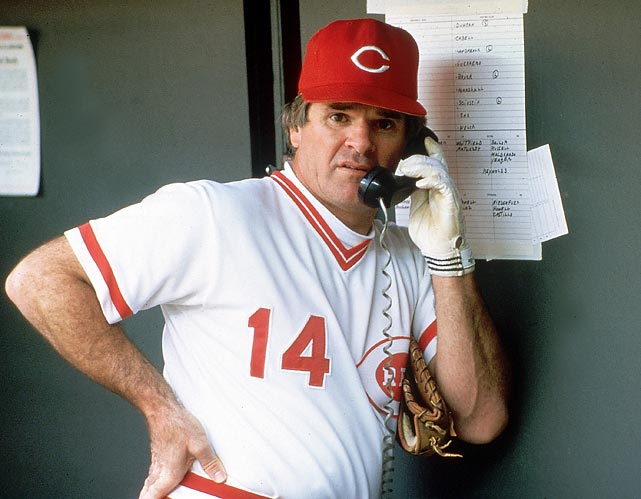 Pete Rose pleads guilty to two felony counts of filing a false income tax return (and hiding $300,000 in income).
