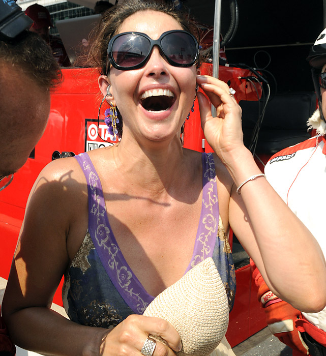 Actress Ashley Judd was ecstatic as she watched her husband cruise to his second Indy 500 victory in four years.