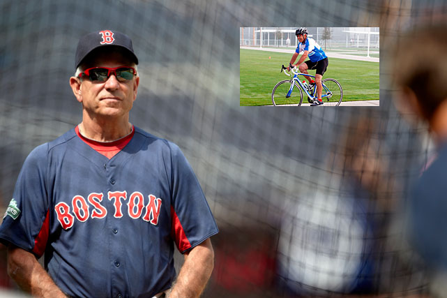 Two thousand and twelve was a rough year for Bobby Valentine. The manager saw his team decimated by injuries on its way to a 69-93 record that led to his firing, the worst of any Red Sox squad since 1965. Also, while going for a spin in Central Park, the skipper nearly injured himself while trying to read a text message. Here's a gallery of Sports Figures on Bicycles.