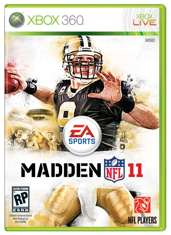 For the first time, EA let fans pick the Madden cover athlete. The winner: Saints QB Drew Brees. It's hard to argue with the choice, but hopefully Brees won't succumb to the  Madden cover curse . One of the new Madden 11 features we're most interested in is GameFlow, which speeds up the game by picking a play for you instead of having you go through the game's massive playbooks each and every down. Users will still have the option to choose their plays, but those who opt for GameFlow will hear a coach call a specific contextual play, along with the intended target or outcome. The personnel will be on the field and ready to go. Should be interesting to see how that turns out. The game is scheduled for an August 10 release on the Xbox 360, PS3, PS2, PSP and Wii.