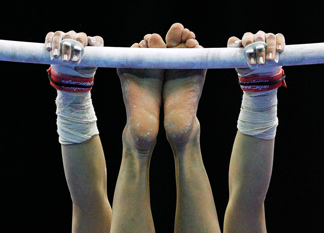Ralitsa Mileva of Bulgaria performs on the Uneven Bars during the Senior Women's qualification round at the European Artistic Gymnastics Team Championships 2010 on April 29 at the National Indoor Arena in Birmingham, England.