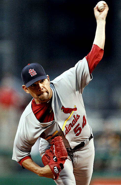 Garcia started just one big league game prior to 2010, and is coming off Tommy John surgery. But through eight starts, he has performed among the game's best, posting a 1.28 ERA. And in three outings at Busch Stadium, Garcia has yet to give up a run.