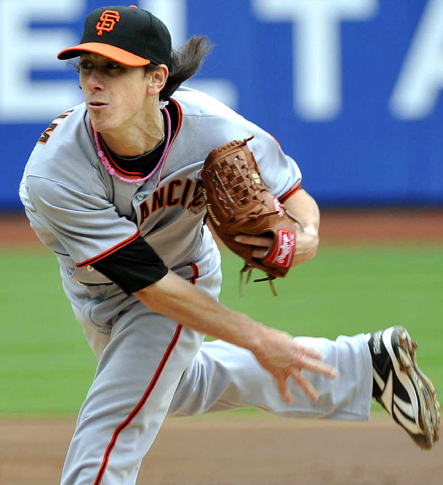 Lincecum is the two-time defending NL Cy Young Award winner, and at age 25, is still in the prime of his career. Lincecum started 2010 scorching hot, going 4-0 with a 1.27 ERA in April, and through nine starts, Lincecum was tops in the NL in strikeouts (75).