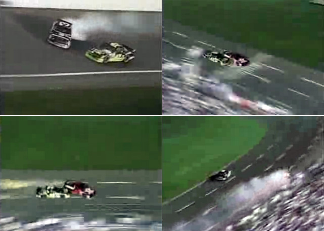 In this event more than any other, leading laps don't matter until it's the last one. Fans have been treated to a long list of legendary finishes, with none greater than in 1992. After spinning Dale Earnhardt during the white flag lap,  Kyle Petty  endured an unexpected challenge from  Davey Allison  coming off turn 4. Heading to the flag, Petty spun the No. 28 in desperation, but it still wasn't enough as Allison crossed the checkered flag in front -- even though he was headed in the wrong direction. Allison suffered a concussion that day, but he still took home the big prize while setting a record as the only driver to win this exhibition in back-to-back years.