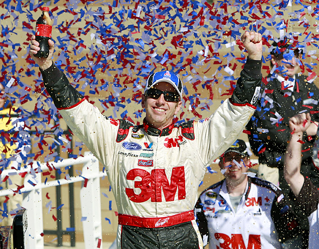 Greg Biffle is back in the title hunt, and Jimmie Johnson has resumed his normal spot atop the NASCAR leaderboard. Kansas Speedway once again played a major role in the Chase for the Sprint Cup championship, which got a whole lot tighter after a fast-paced Sunday race dominated by the title contenders. Biffle was the first of seven in the Chase to cross the finish line, pulling himself out of a deep hole with seven races remaining to determine the championship.