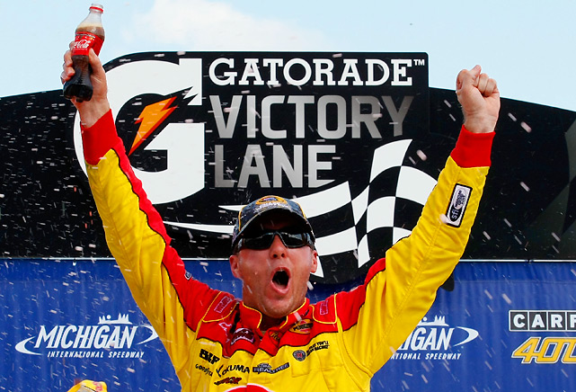 Points leader Kevin Harvick added to his Chase resume, winning for the third time this season. It was his first non-restrictor plate victory since won at Phoenix in 2006.