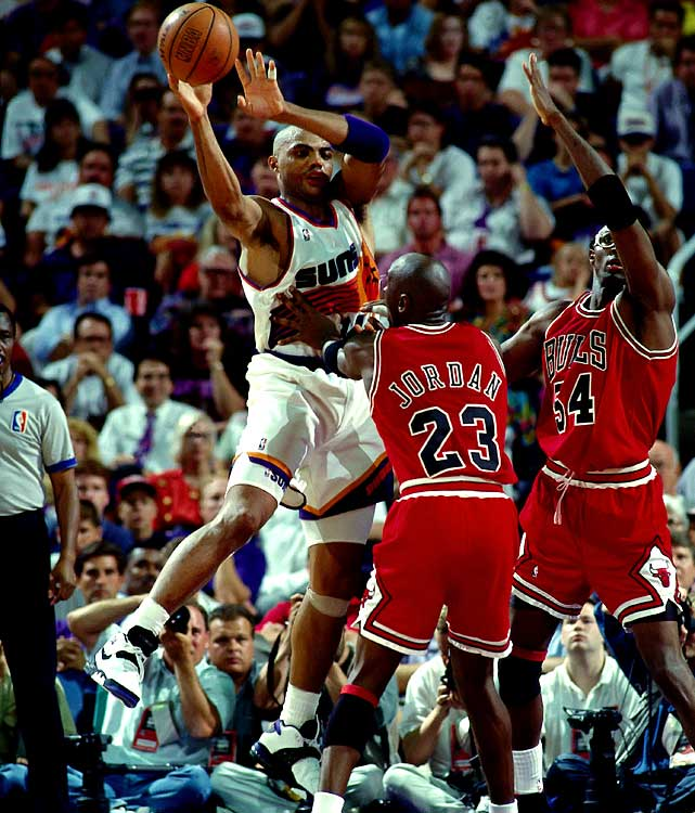 Sir Charles played on 50-win teams with three franchises (Philadelphia, Phoenix and Houston). The 1992-93 Suns were the best of those teams, as Barkley led them to an NBA-high 62 victories, won the MVP award and made his first and only Finals, where Phoenix lost to the Bulls in an entertaining six-game series.
