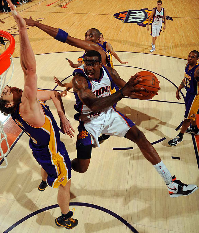 Stoudemire led all scorers with 42 points in Game 3. He attacked the hoop to the tune of 18 free-throw attempts, and also grabbed 11 rebounds.