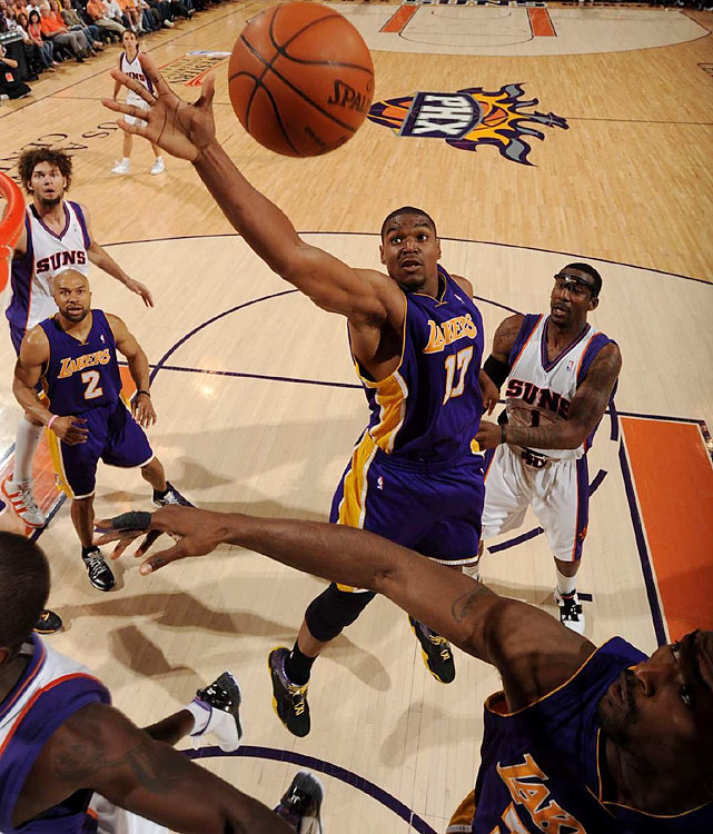 The Lakers were dominated on the boards 51-36, with big man Andrew Bynum claiming eight of them.