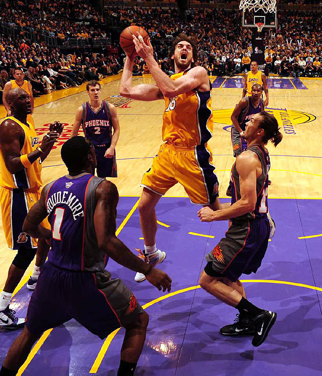 Gasol went 10-for-13 from the floor and finished with a  23 point differential.