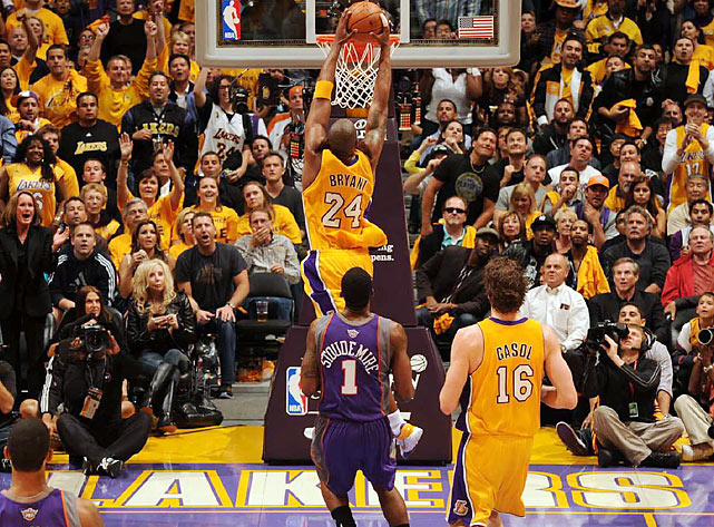 """Bryant's performance marked the first time he's scored 30 or more points in six straight playoff games. What's more, """"Black Mamba"""" has hit 52.2 percent of his shots during this span."""
