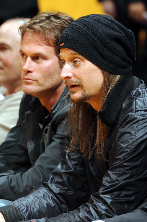 Rocker and Pam Anderson ex, Kid Rock attends Game 2 of the Lakers-Thunder series in L.A.