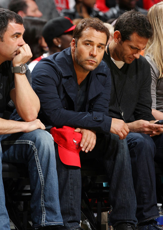 Chicago native Jeremy Piven (aka Ari Gold) watches the Bulls take on LeBron James & Co. in the first round. Yeah, didn't work out so well for his Bulls.