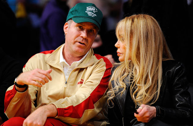 Will Ferrell rocks a trucker hat and a Puma track suit. That's ... tremendous.