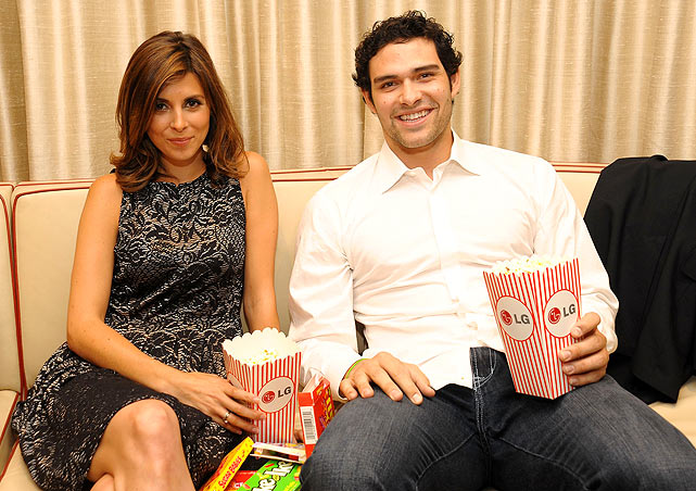 Sanchez, here with actress Jamie-Lynn Sigler, attended a screening of 'Keep Surfing' at the Tribeca Film Festival in New York City. Sanchez and Sigler have denied rumors that they're dating.