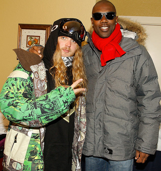 At the Sundance Film Festival, T.O. hung out with professional snowboarder The Dingo.