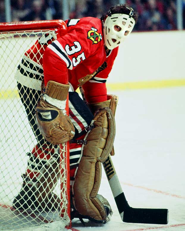 The younger brother of Bruins star Phil Esposito was a favorite in Chicago with his flopping, butterfly style. During his 15 seasons with the Blackhawks, Tony O had seven consecutive 30-or-more-win seasons. He was awarded the Vezina Trophy his rookie year (he also won the Calder Trophy) after compiling 15 shutouts, and he backstopped the Blackhawks to the Stanley Cup Final in 1971 and '73 He played until he was 41, accumulating 418 wins and he remains the all-time Blackhawks career leader with 74 shutouts. He was inducted into the Hockey Hall of Fame in 1988.