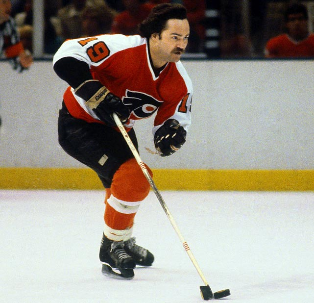 The clutch, versatile left winger was a four-time All-Star and top two-way player in Philly for 10 seasons, as well as a mainstay on the Flyers' two Stanley Cup teams. An occasionally prolific scorer, MacLeish reached the 50-goal mark in 1972-73 and was the Flyers' leading playoff scorer (13 goals, 22 points) during the run to their first Cup, in 1974. He is best known for scoring perhaps the most important goal in Flyers' history: the only tally in a 1-0 Game 6 win over Boston that delivered the Cup in a major upset.